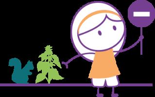personnage féminin défendant la biodiversité
