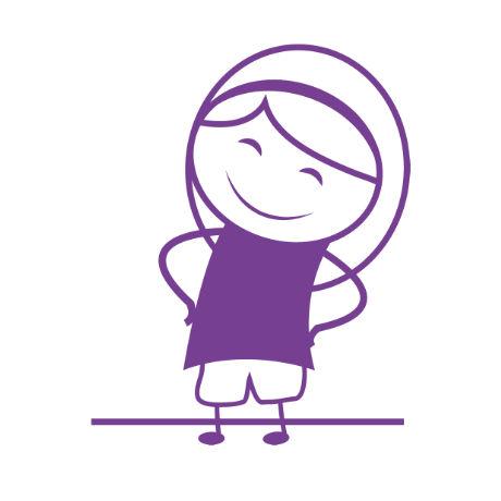 personnage féminin symbolisant le confiance