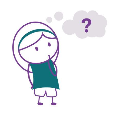 personnage féminin se posant des questions sur l'avenir